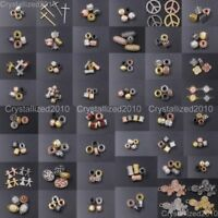 Wholesale Zircon Gemstones Pave Bracelet Pendant Connector Charm Beads 5 Pieces