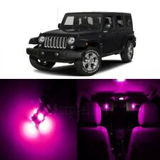 8 x Pink LED Interior Light Package For 2007 - 2018 Jeep Wrangler + PRY TOOL