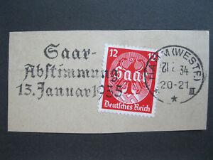 Deutsches Reich Mi.Nr. 545 Werbestempel HAMM Saar-Abstimmung 1935 Briefstück