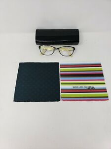 William Morris London Women Glasses Black Sz M 135mm Microfiber Cleaning Cloth