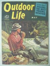 Outdoor Life Magazine May 1941 Walter Haskell Hinton Cover Fishing & Deer