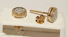 Yellow Gold and diamond earrings stud earrings screw back studs man /kids studs
