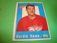 1959-1960 topps Hockey #63 Gordon Gordie Howe Detroit Red Wings