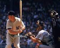 MLB New York Yankees Mickey Mantle at the Plate Color 8 X 10 Photo  Picture