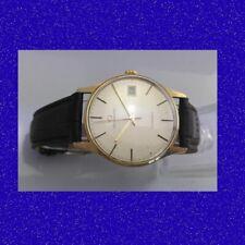 Vintage & Retro 9k Gold Gents Vintage Garrard Auto 21 Jewl Date Wrist Watch 1969