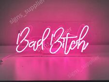 New Bad Bitch Wall Decor Artwork Real Glass Neon Light Sign 15""