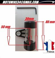 Support Vignette alu NOIR Étanche Assurance Moto custom cylindrique Tube