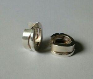 Silber 925 Creolen Fossil matt glänzend Ohrringe