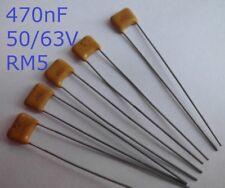 10 Stk. 470nF, 50/63V, 20%  Keramik-Vielschichtkondensatoren
