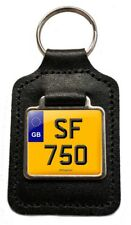 SF 750 Reg Number Plate Leather Keyring Gift for Laverda SF 750 Owners
