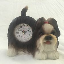 Father'S Sale Critter Clock Shih Tzu Tabletop Wagging Tail Puppy Dog
