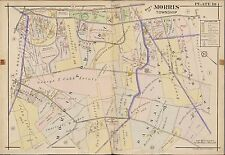1910 NEW JERSEY MORRIS COUNTY TOWNSHIP GOLF CLUB & CONVENT STATION ATLAS MAP