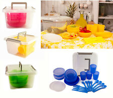 More details for large set 29- pc picnic camping dinner reusable cutlery mug plate tableware bowl