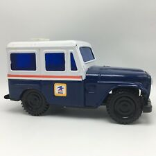 Vintage 1970 US Mail Jeep Delivery Truck Metal Coin Bank Western Stamping Corp