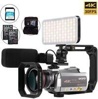 ORDRO AC3 4K Camcorder Ultra HD WiFi 1080P 60FPS Night Vision w/Micorphone