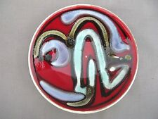 A Poole Pottery Delphis pin dish - pattern 49 - 1960/70s Angela Wyburgh ?