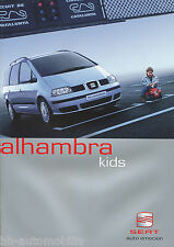 Seat Alhambra Kids Prospekt 2 03 brochure 2003 Auto PKWs Autoprospekt Broschüre