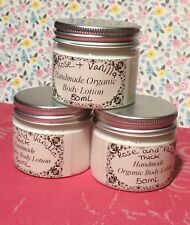 Handmade Organic Rose & Vanilla Scented Thick Creamy Body Lotion For Her - 50ml
