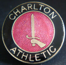 More details for charlton athletic fc vintage club crest type badge brooch pin in gilt 22mm dia