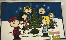 """New ListingPeanuts Snoopy Christmas Lights Accent Rug Welcome Mat 17x28"""""""