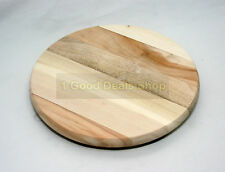 New HQ Round Wooden Chopping Cutting Board Kitchen Food Meat Vegetable PRO