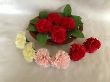 10 Pack Soap Carnations Flowers In Pink Red Or White Wedding Baby Shower Favours
