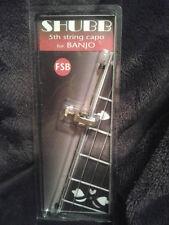 New Shubb FSB Fifth String Brass Banjo Capo, NIB Free Shipping