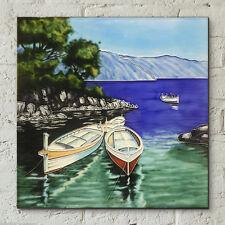 """Bateaux mer céramiques décoratives photo art glaze tuile 12x12 """"Mur Art 05205"""