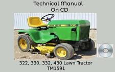 John Deere 322 330 332 430 Lawn Garden Tractor Service Repair Manual Tm1591