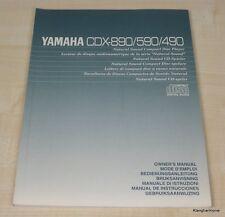 YAMAHA cdx-490/cdx-590/cdx-890 manuale d'uso tedesco, multilingue