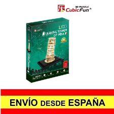 Puzzle 3D LA TORRE DE PISA CON LED CubicFun Educativo  15 Piezas a0102