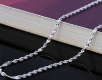 "2 Pc Set 925 Sterling Silver Women's 24"" Inch Necklace Snake Link Chain w GiftPg"