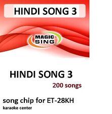 HINDI 3 Enter Tech Entertech Magic Sing Mic 200 Songs for ET28KH
