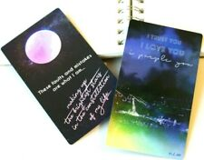 Holographic BTS inspired I purple you card double-sided collectible card limited