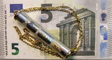 9ct gold genuine 5 Euro  bank note in pendant & chain