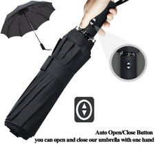Automatic Folding Umbrella Windproof Double Layer Inverted Reverse UV Protect kz