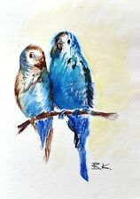Originale künstlerische Aquarell-Malereien mit Vogel-Motiv der Zeit Tier