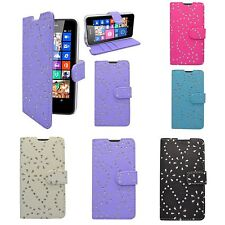 For Nokia Lumia N635 Various Colours Glitter Design Book Flip Case Cover