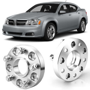 2pcs Wheel Spacers Centric Hub Adapters 5x114.3 67.1mm 12x1.5 For Dodge Avenger