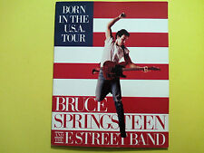 BRUCE SPRINGSTEEN BORN IN THE USA TOUR CONCERT PROGRAM NEW VETERANS DAY TROOPS
