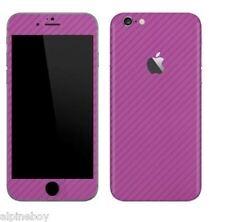Fibra de Carbono Piel Con Textura para iPhone Envolvente Adhesivo Calcomanía Funda todos iPhone