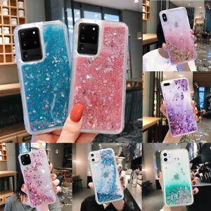 For Samsung Galaxy S20+ A32 A52 5G Bling Glitter Liquid Quicksand TPU Case Cover