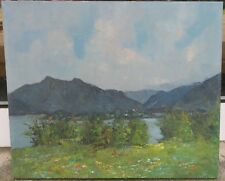 Bittermann Manfred *1924 Gemälde Frühling - Gebirge - Berg See