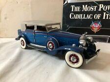 1/24 scale metal Franklin Mint 1932 V-16 Cadillac Sport Phaeton blue