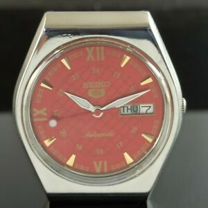OLD VINTAGE SEIKO 5 AUTOMATIC 6319A JAPAN MENS DAY/DATE WATCH 473b-a237733-5