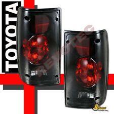 89-95 Toyota Pickup Black Dark Smoke Tail Lights Lamps RH & LH 90 91 92 93 94