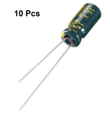 10pcs Aluminum Radial Electrolytic Capacitor Low Esr Green With 100f 16v 105 C