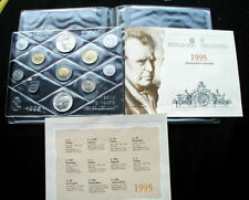 1995 ITALY rare complete official set coins UNC with 2 silver MASCAGNI