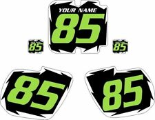 1985 Kawasaki KX125 Pre-Printed Black Backgrounds with White Shock Green Number