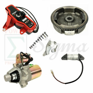 Electric Starter Kit With Bolts For Harbor Predator 212cc R210 6.5HP Gas Engine